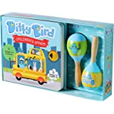 DITTY BIRD Our Best Gift Box: Interactive Children's Songs Book and Toy Maracas for Babies. Music Toys for Baby, Toddler, One