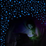 WILLBOND 749 Pieces Glow in The Dark Stars and Dots Wall Stickers Glowing Stars Stickers Fluorescent Luminous Adhesive Ceilin
