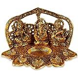 Tuelip Metal Brass Laxmi - Ganesh - Saraswati Religious Idol Figurine Hindu God Sculpture for Puja