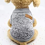 Pet Cat Dog Sweater,Warm Dog Jumpers Cat Clothes,Fleece Pet Coat for Puppy Dog
