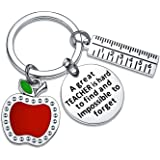 BESPMOSP Teacher Appreciation Keychain Teacher's Day Birthday Graduation Thank You Jewellery Best Friend Keyring (A Great Tea