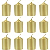 Mega Candles 12 pcs Unscented Gold Votive Candle, Hand Poured Wax Candles 15 Hours 1.5 Inch x 2.25 Inch, Home Décor, Wedding