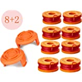 LEIMO Trimmer Spool Line for Worx,Edger Spool Compatible with Worx Trimmer spools Weed Eater String,Trimmer Line Refills 0.06