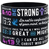 Power of Faith Bible Verse Wristbands - Christian Religious Jewelry Gifts