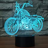 CooPark Novelty 3D Illusion Lamps MTB Motocross Bike LED Night Lights USB 16 Colors Sensor Desk Lamp for Outdoor Sports Lover