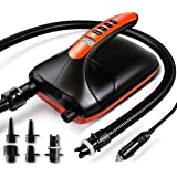 Vanxse 20PSI High Pressure SUP Pump Dual Stage 12V DC, Electric Inflatable Paddle Board Pump Auto-Off Function for Stand Up P