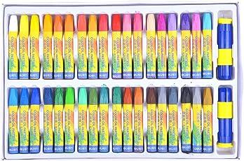 オイル パステル 36色 画材セット 固体絵具 お絵描き カラーペン クレヨンより濃く描く 延長ホルダー・削り器付き