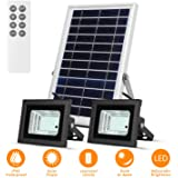 Solar Flood Lights Led Lights Remote Solar Lights Dusk to Dawn Solar Security Light with 6W 800 LM Dual 42 LEDs IP65 Waterpro