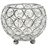 VINCIGANT Crystal Tea Light Candle Holders/Modern Candle Shade/Lantern for Anniversary Celebration/Office Table Decorations/W