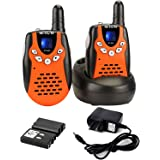 Retevis RT-602 Kids Walkie Talkies Rechargeable VOX 22 Channel 2 Way Radio for Kids for Birthday Gift Christmas (Orange, 1 Pa