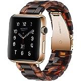 Sundaree® Compatible with Apple Watch バンド 38&40mm、ファッションな樹脂製ブレスレット 時計バンドfor iWatchバンド 、スポーツ&エディション バンド メタルステンレススチールバックル for ア
