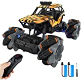 M&Ostyle Remote Control Car,2.4 GHZ High Speed Stunt RC Racing Cars Can 360° Spins,1:18 Scale,with Rechargeable Batteries,Bes