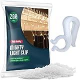 Christmas Light Clips - [Set of 200] Mini Light Clips For Christmas Lights - Light Clips For Gutters - Light Clips For Shingl