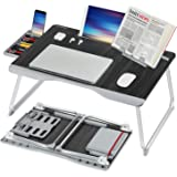 Laptop Bed Table, XXL Bed Trays for Eating, Laptops, Writing, Study and Drawing- Laptop Desk for Bed, Sofa and Couch- Folding
