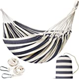 INNO STAGE Double Size Cotton Hammock - Woven Hammock Two Person Hanging Camping Bed for Patio, Backyard, Porch, Outdoor and