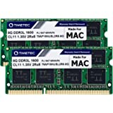Timetec Hynix IC 16GB KIT(2x8GB) Compatible For Apple DDR3L 1600MHz PC3L-12800 For Early/Mid/Late 2011, Mid/Late 2012, Early/