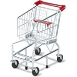 Melissa & Doug 4071 Toy Shopping Cart with Sturdy Metal Frame, Metallic