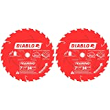 Freud D0724A Diablo 7-1/4-Inch 24 Tooth ATB Framing Saw Blade with 5/8-Inch & Diamond Knockout Arbor (2 Pack)