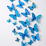 36PCS Butterfly Wall Decals - 3D Butterflies Decor for Wall Sticker Removable Mural Stickers Home Decoration Kids Room Bedroo
