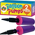 Balloon Pump Hand Held, Inflator Air Pump for Balloons - 2Way Dual Action, 2Pack: Friends can Help - Easy to Use, 100% Lifeti