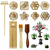 BangBangDa Zen Garden Stamps Rake Gifts - Patterns Sand Play Therapy Kit Meditation Tool Accessories Supplier Mini Office Tab
