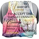 Inspirational Throw Blanket with Healing Message - Christian Gifts for Women Soft Lightweight Microfiber Religious Blanket Pe