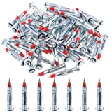 "Glarks 60Pcs Heavy Duty 1/8"" inch 35/46/59mm Zinc Plated Steel Molly Bolt Drive Hollow Drive Wall Anchor Screws Kit, zinc"