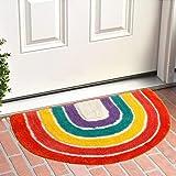 Bath Rug, Rainbow Floor Mat, Soft Bathroom Rugs, Childrens Room Decor Rug, Thick Super Soft Shaggy Carpet