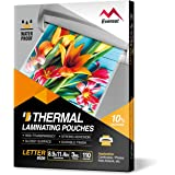 Everest Thermal Laminating Pouches - 8.9 x 11.4 Inches - 3 MIL/5 MIL Thick - 110/220 Pouches - Letter Size 110 Sheets Clear