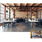 DaShan 7x5ft Office Backdrop Panoramic Office Tables Wood Floor Photography Background Modern Office Business Adult Man Woman