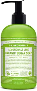 Dr.Bronner's(ドクターブロナー) ドクターブロナー オーガニック シュガーソープ LL(レモングラスライム) ボディソープ 355ml