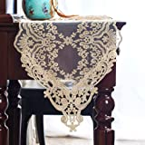 ARTABLE Rectangle Table Runner Dresser Scarf Lace Short Macrame Embroidered Table Runners with Exquisite Vintage Shabby Chic