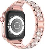 EPULY コンパチブル Apple Watch バンド ダイヤモンドラインストーン ステンレス アップルウォッチ ベル…