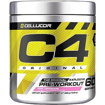 Cellucor(セルコア) C4 プレワークアウト サプリメント 60回分 ピンクレモネード味 390g (13.75 オンス) [海外直送品]