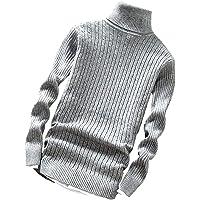 [アスペルシオ] ハイネック スリム ケーブル ニット セーター メンズ