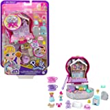 Polly Pocket Candy Cutie Gumball Compact, Gumball Theme with Micro Polly & Margot Dolls, 5 Reveals & 13 Related Accessories,