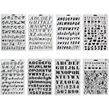 URlighting Bullet Journal Drawing Stencil Template Set (8 P cs) Plastic Planner Stencils with Letters Number Alphabet for Not