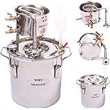 DIY 2 Gal 10 Liters Home Alcohol Whiskey Distiller Moonshine Still Stainless Steel Boiler Wine Making Kit