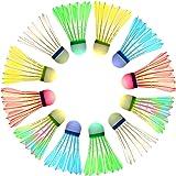 Sportneer LED Badminton Shuttlecocks 360° Lighting Birdies for Badminton, Glow in The Dark Shuttlecocks for Indoor/Outdoor Sp