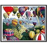 ARTomo【アトモ】パズル油絵『フレーム付き』数字 油画 DIY 塗り絵 本格的な油絵が誰でも簡単に楽しく描ける 40x50cm (気球の祭り)