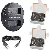 Newmowa BLN-1 互換バッテリー 2個+充電器 対応機種 Olympus BLN-1 BCN-1 Olympu…