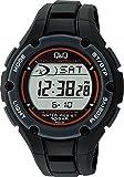 [シチズン Q&Q] 腕時計 デジタル 電波 ソーラー 防水 日付 ウレタンベルト MHS6-300 メンズ ブラック