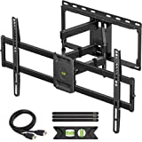 USX MOUNT Full Motion TV Wall Mount Bracket Dual Swivel Articulating Tilt 6 Arms for Most 37-75 inch Flat Screen, LED, 4K TVs
