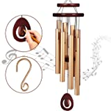 Homemaxs Wind Chimes for Outside Large Deep Tone, 38 Inch Large Memorial Wind Chimes with 8 Tubes & Rotatable DIY Pendants, B