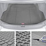 Motor Trend Premium FlexTough All-Protection Cargo Mat Liner – w/Traction Grips & Fresh Design, Heavy Duty Trimmable Trunk Li
