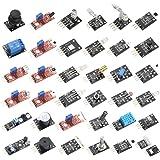 HiLetgo 37 Sensors Assortment Kit 37 Sensors Kit Sensor Starter Kit Arduino Raspberry pi Sensor kit 37 in 1 Robot Projects St