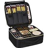 Samtour Makeup Case Travel Makeup Bag Makeup Train Case Cosmetic Bag Toiletry Makeup Brushes Organizer Portable Travel Storag