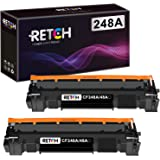 RETCH Compatible Toner Cartridge CF248A 48A 2 Black Replacement to use with HP CF248A 48A for HP Laser Jet MFP M28W M28A M29A