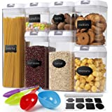 Airtight Food Storage Container with Lids BPA Free - Ticent 7 Pieces Kitchen Pantry Organization and Storage Plastic Large Ce