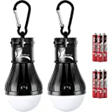 DealBang Compact LED Camping Light Bulbs with Clip Hook(Battery Included) 150 Lumens LED Hanging Tent Lights for Camping,Hiki